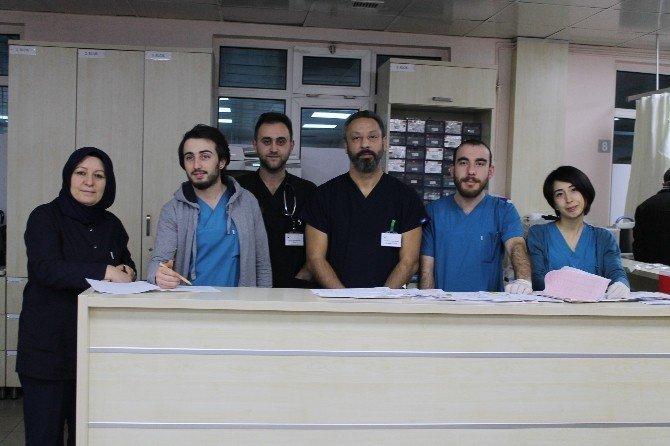 Kocaeli'de doktorların yeni yıl mesaisi yoğun geçti