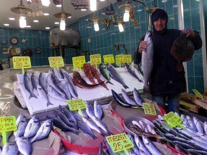 Kar yağdı, balık fiyatları tavan yaptı