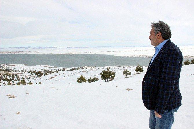 Karaman'da lodosla eriyen kar barajların su seviyesini yükseltecek