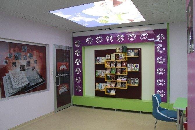 """15 Temmuz Şehitleri Anadolu Lisesinde """"Z"""" kütüphanesi açıldı"""