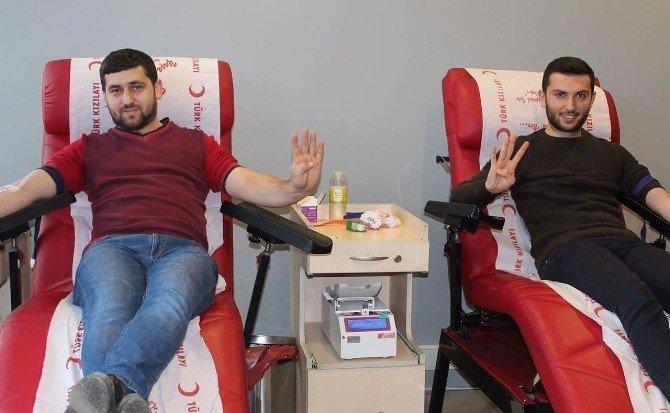 Ak gençlerden kan bağışına destek