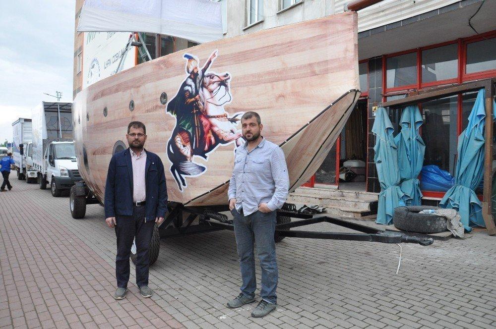 Fatih'in gemisi İnegöl'de imal edildi