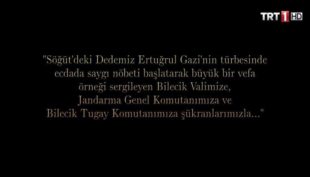"""""""Payitaht Abdülhamid"""" dizisinde Ertuğrul Gazi'nin türbesinde ecdada saygı nöbetine teşekkür"""