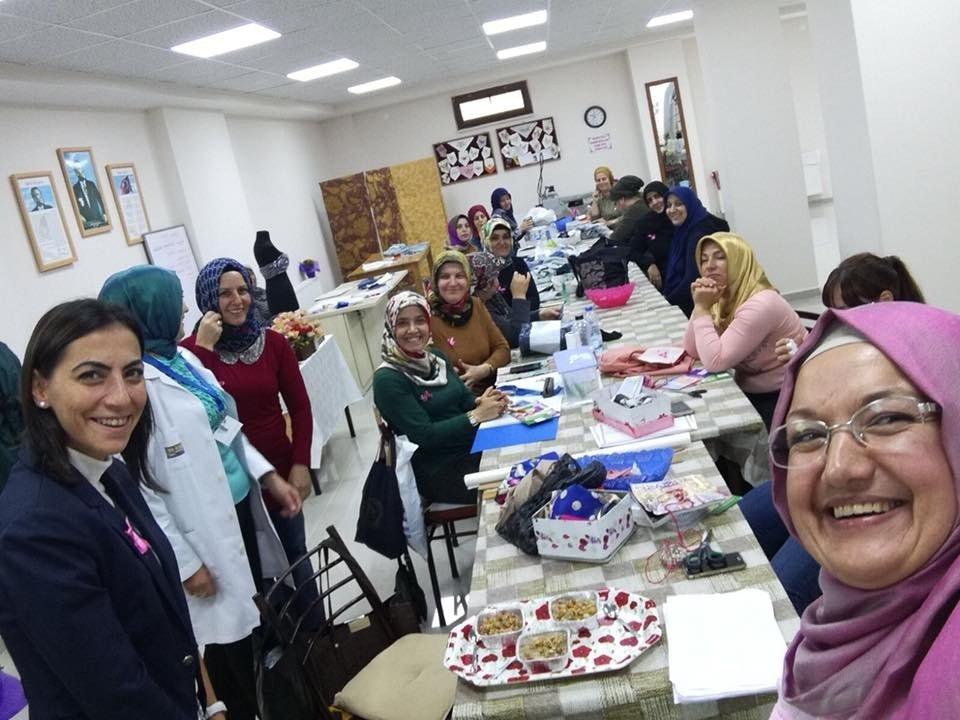 Kartepeli kadınlar, kansere dikkat çekti