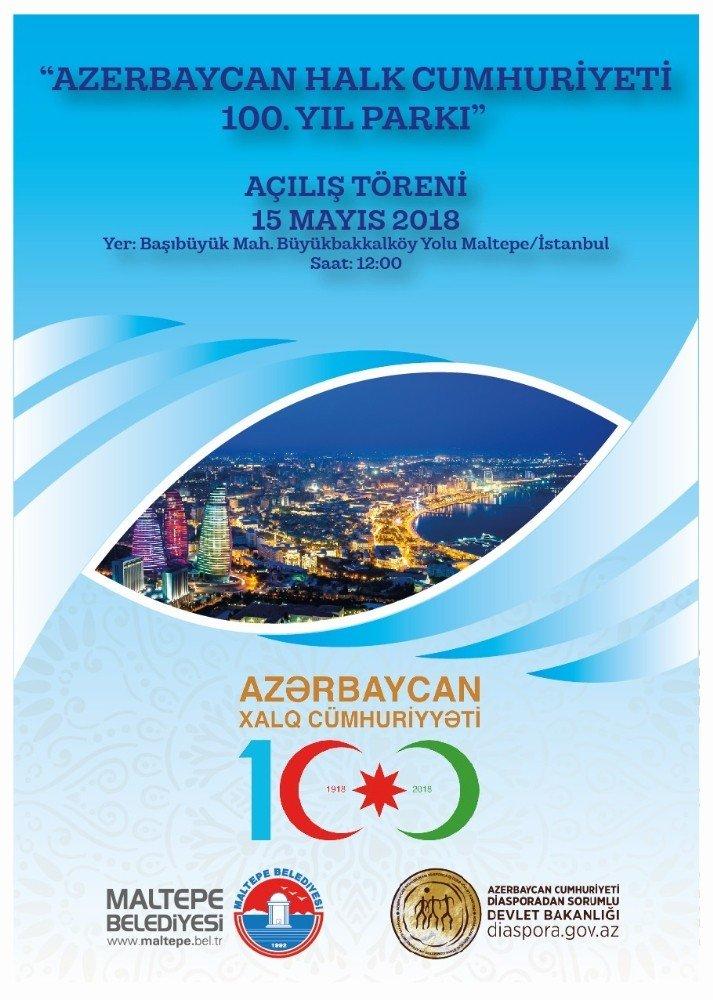Maltepe Belediyesi'nden Azerbaycan'a 100'üncü yıl hediyesi