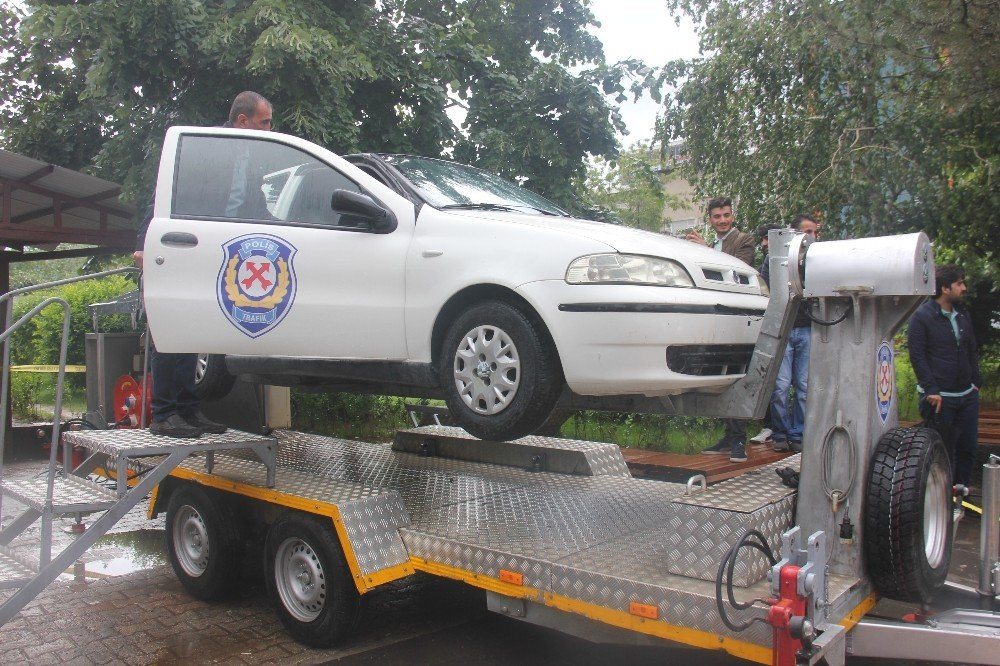 Bingöl'de Simülasyon aracıyla, kaza anını yaşadılar