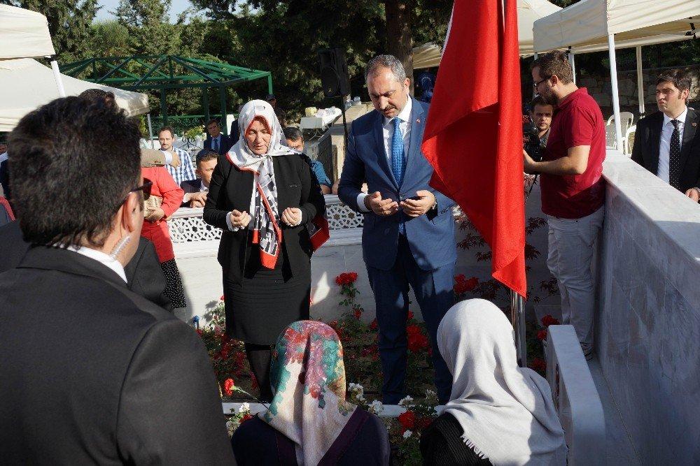 Adalet Bakanı Gül, Başsavcı Alper'i dualarla yad etti