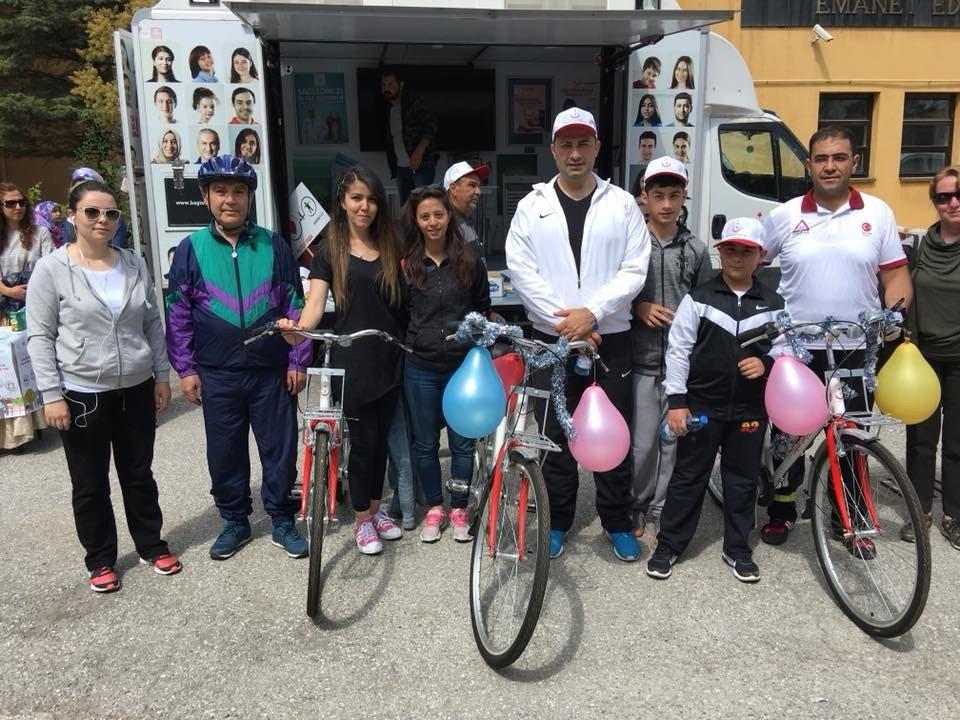 Bisiklet turu etkinliği düzenlendi