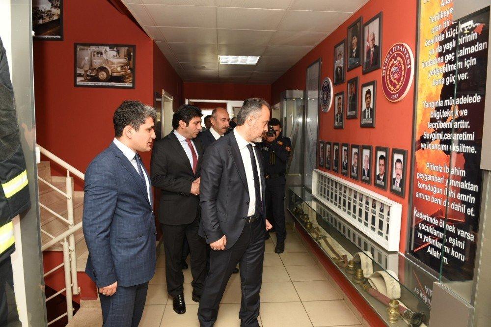 Aktaş'tan itfaiye komuta merkezine ziyaret