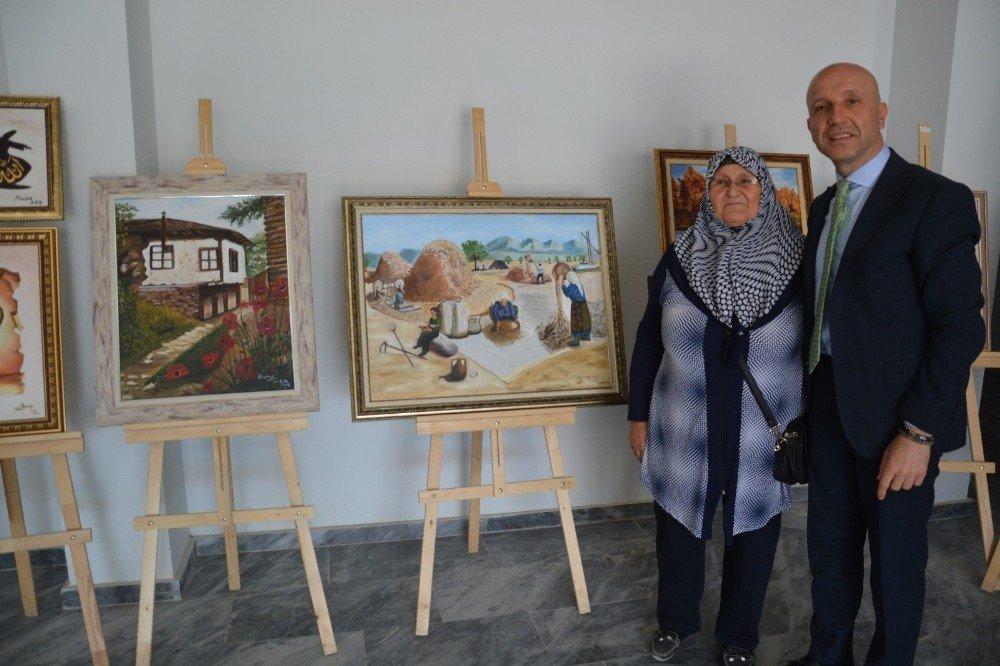 72 yaşında ressam oldu