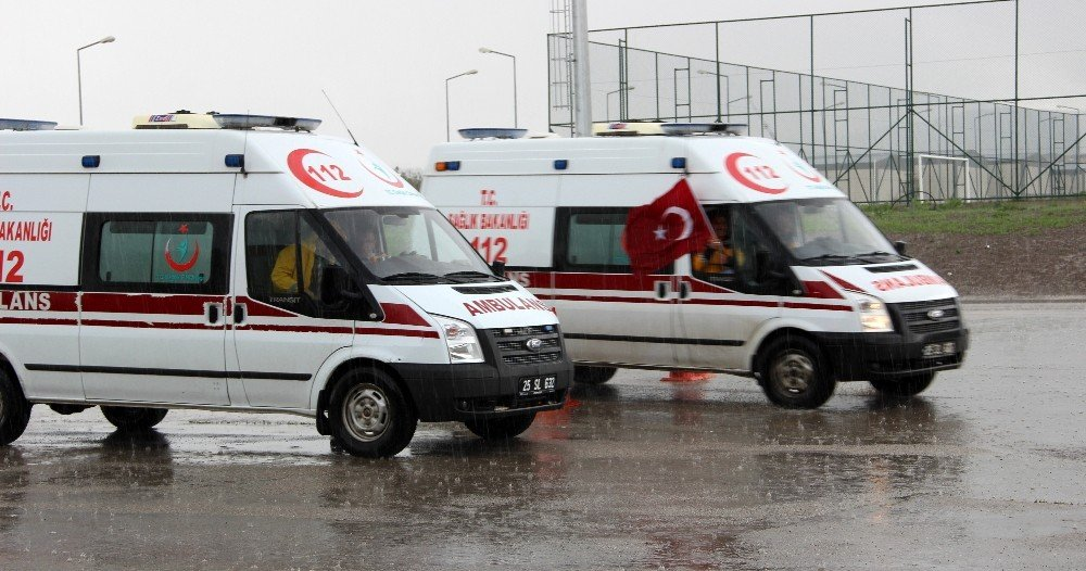 Erzurum'da sağlık personellerine yönelik 'Ambulans Sürüş Teknikleri Eğitici Eğitimi' verildi