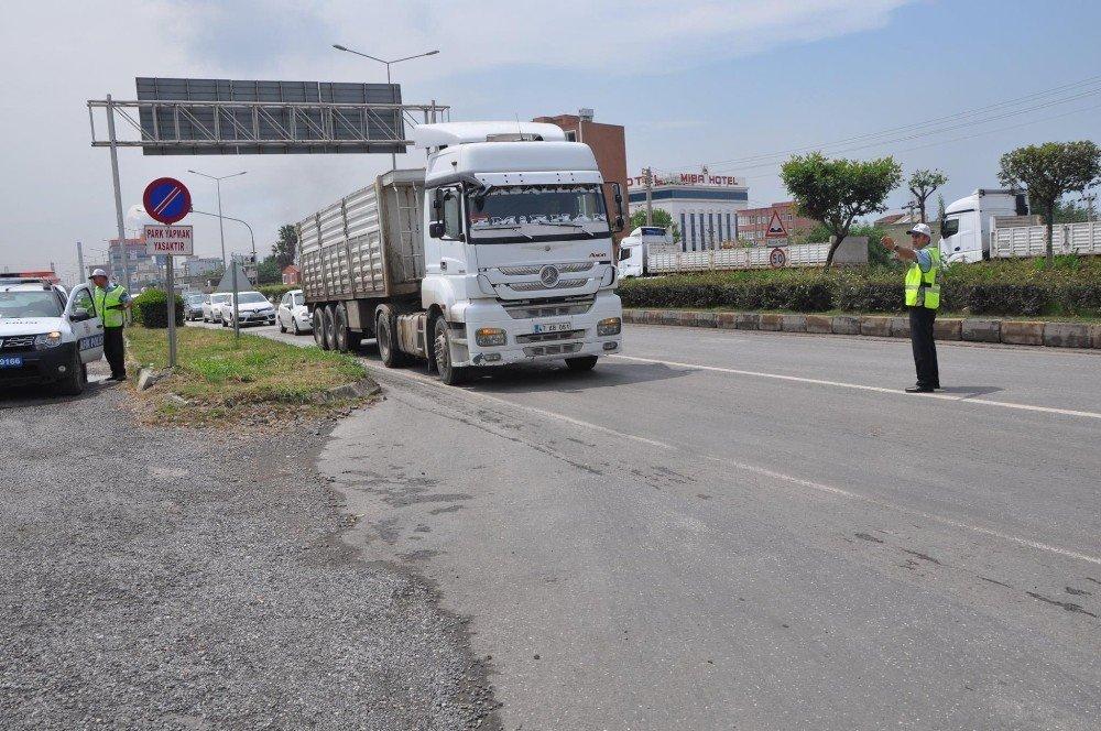 Tonajı aşan sürücülere 59 bin lira ceza