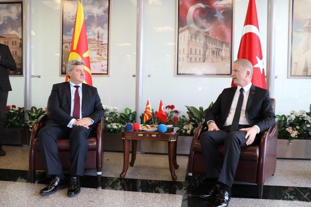 Makedonya Cumhurbaşkanı İvanov Sivas'ta