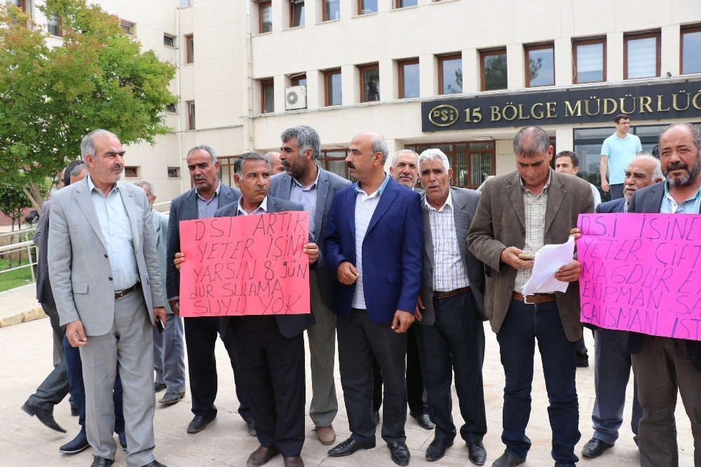 Şanlıurfalı çiftçiler DSİ'yi protesto etti