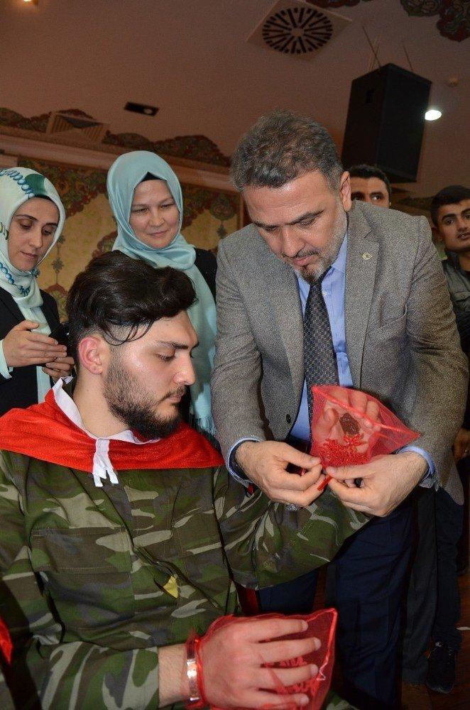 Engelli askerlere mehterli kına töreni