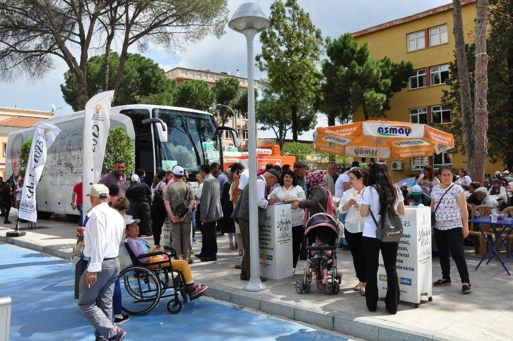 """""""Şehrim 2023"""" otobüsü Milas'ta"""