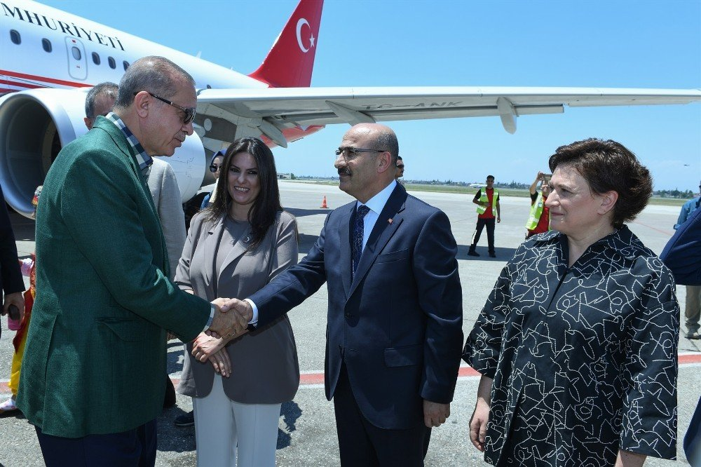 Cumhurbaşkanı Erdoğan Adana'da