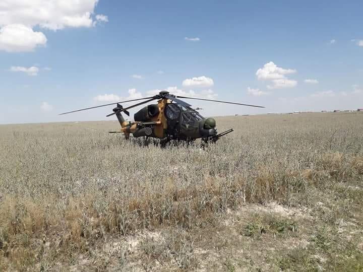 ATAK helikopteri Aksaray'a acil iniş yaptı