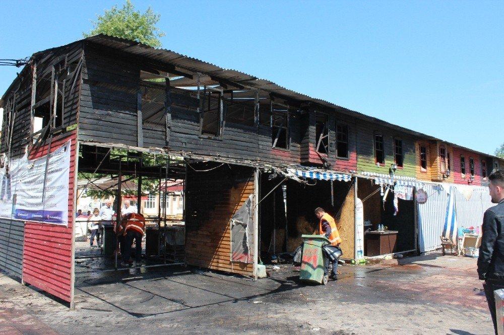 Yangın maddi hasara yol açtı