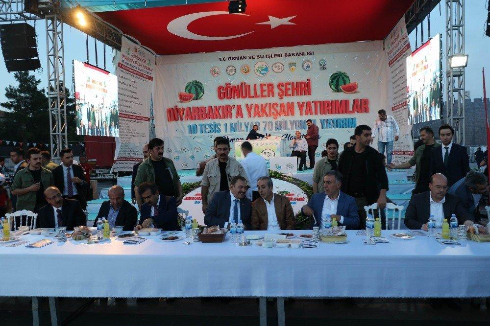Bakan Eroğlu 1 milyar liralık 10 tesisin temelini attı