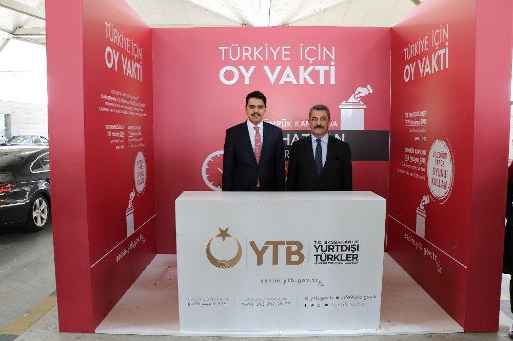 YTB seçim lansmanını Kapıkule'de yaptı