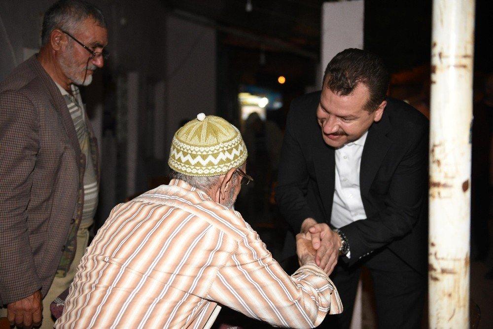 Başkan Yılmaz'a baba ocağından tam destek
