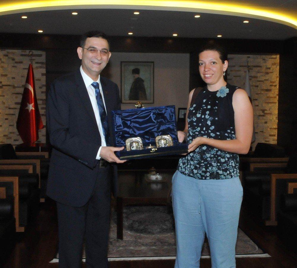 Alman uluslararası işbirliği kurumu yetkililerinden GSO'ya ziyaret