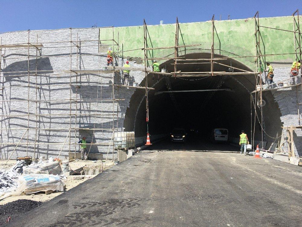 Sabuncubeli tünelleri açılışa hazırlanıyor