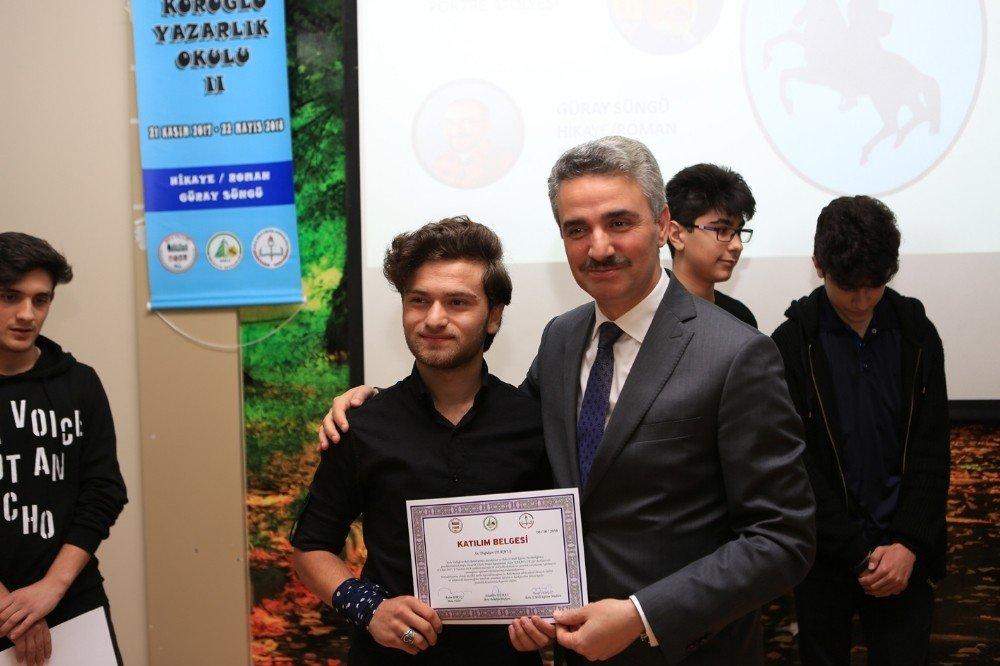 Köroğlu Yazarlık Okulu kapanış töreni yapıldı
