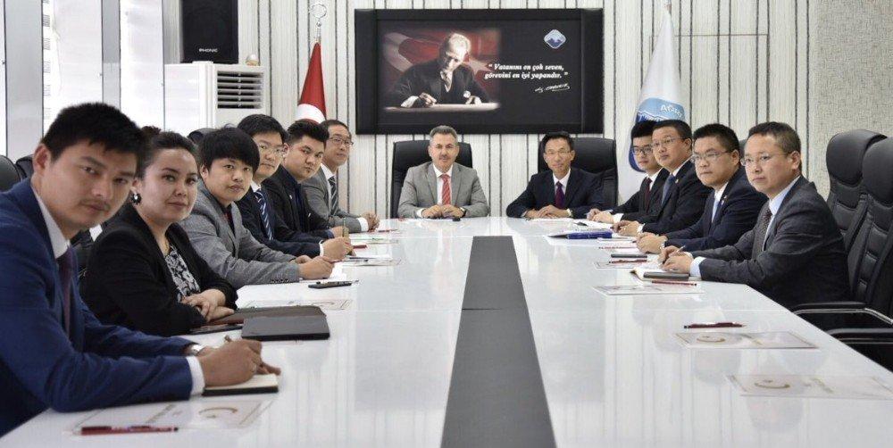 Çin Ankara büyükelçisi ve iş adamları Ağrı'da
