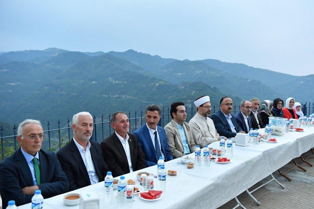 Diyanet İşleri Başkanı Erbaş, baba ocağında iftar yaptı