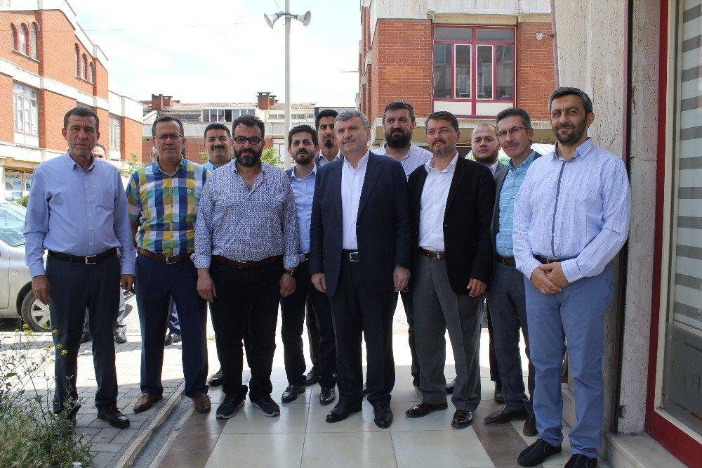 Hasan Angı ve Tahir Akyürek'ten Ayakkabıcılar Sanayisine ziyaret