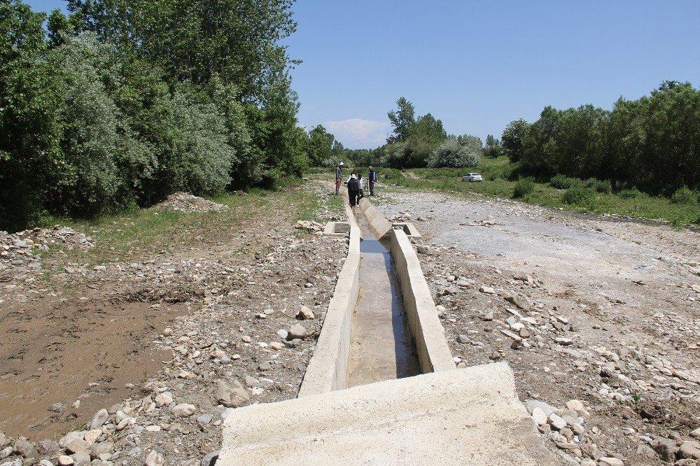 Güzelkonak modern sulama kanalına kavuştu