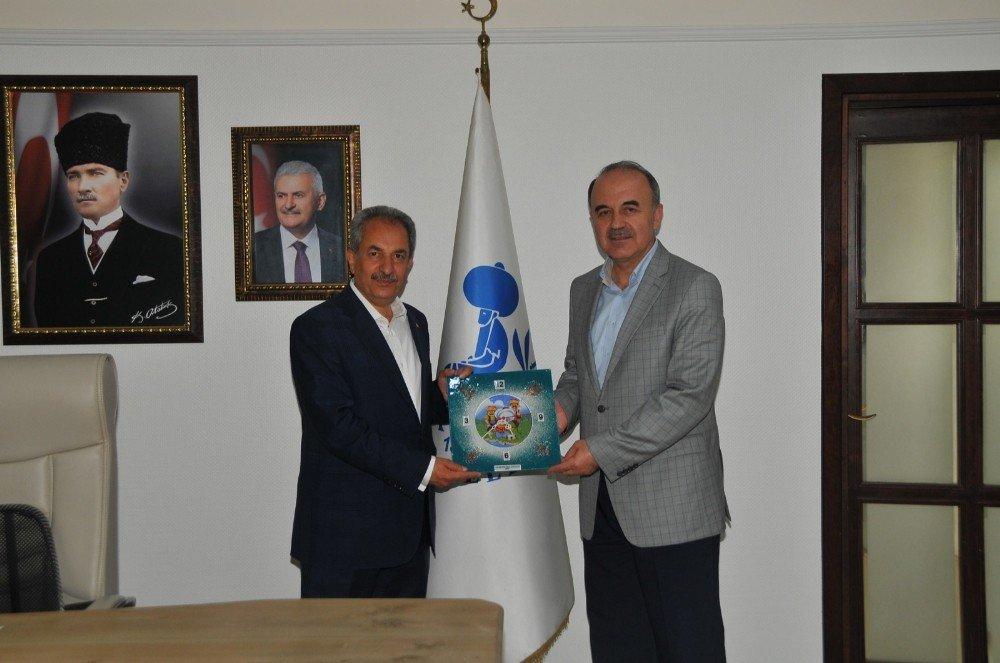 AK Parti Genel Başkanı Sorgun ile Milletvekili Adayı Erdem'den Başkan Akkaya'ya ziyaret