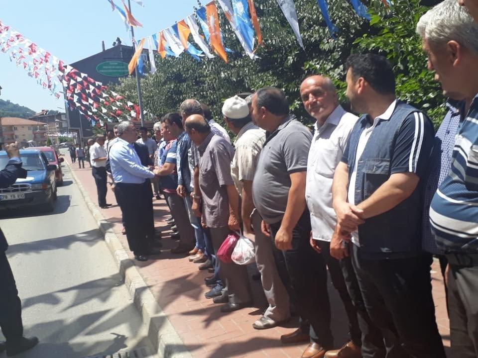 Cumhur Ünal'a Yenice'de coşkulu karşılama
