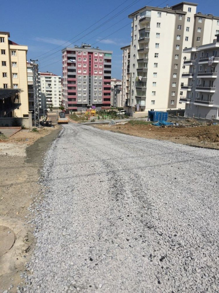 Atakum'da yol çalışmaları
