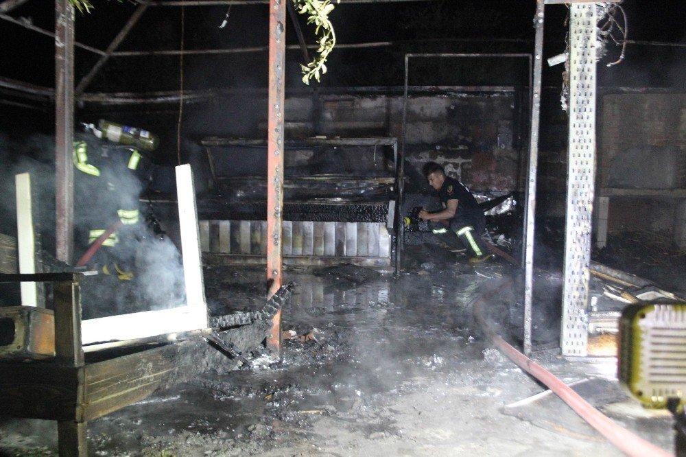 Aydın'da şüpheli yangın