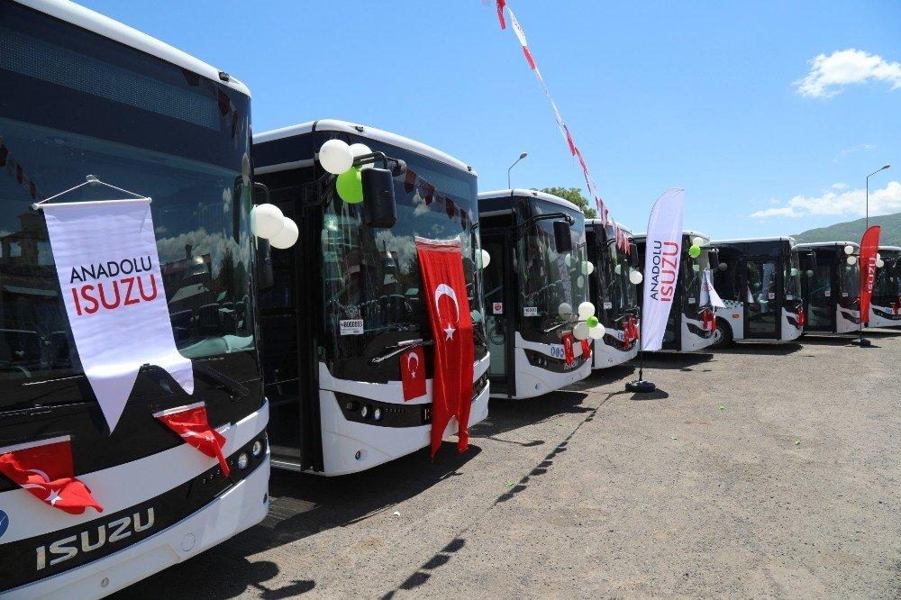 Bingöl'de modern halk otobüsleri hizmette
