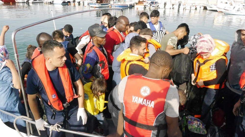38 kaçak göçmen yakalandı