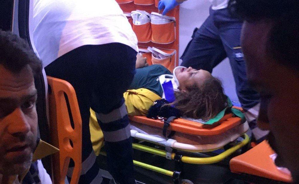 Motosiklet Somali uyruklu kadına çarptı: 2 yaralı