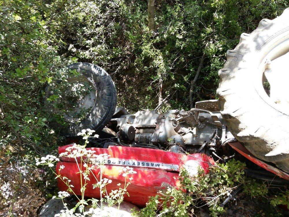 Isparta'da traktör 40 metrelik uçuruma yuvarlandı: 1 ölü, 1 yaralı