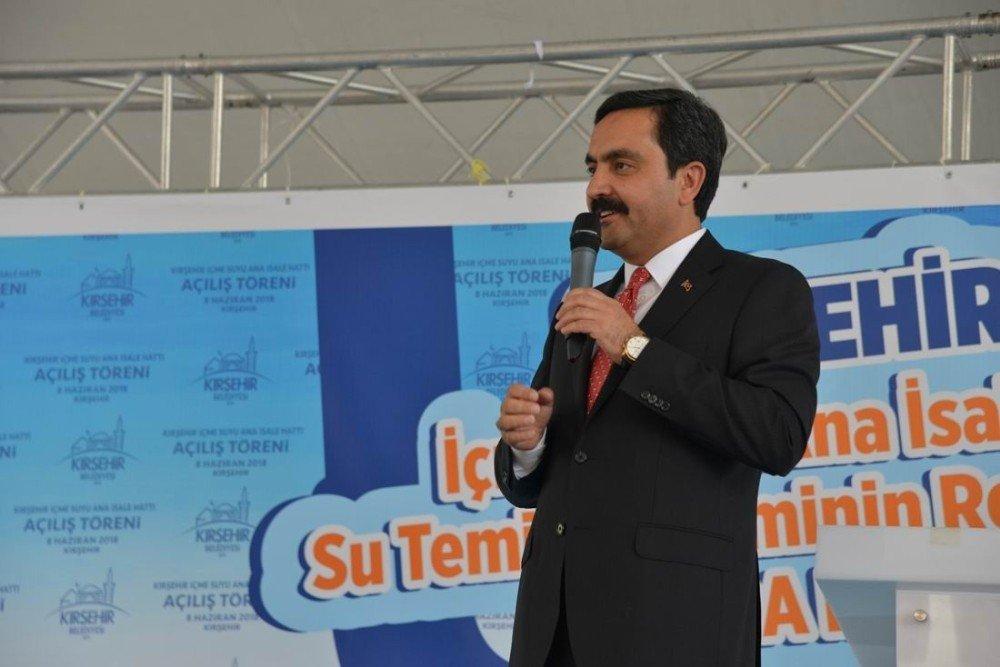 Kırşehir Belediyesi, İçme Suyu Ana İsale Hattı projesi açılışı yapıldı