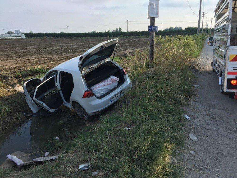 Uyuşturucu taciri polisten kaçarken kaza yaptı