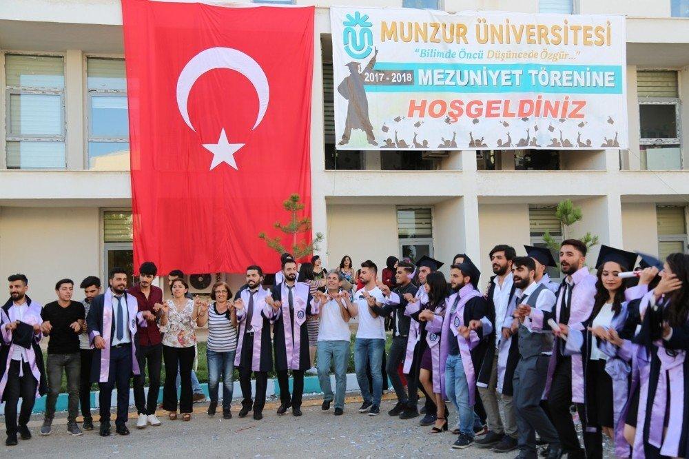 Tunceli'de bin 500 öğrenciye mezuniyet töreni