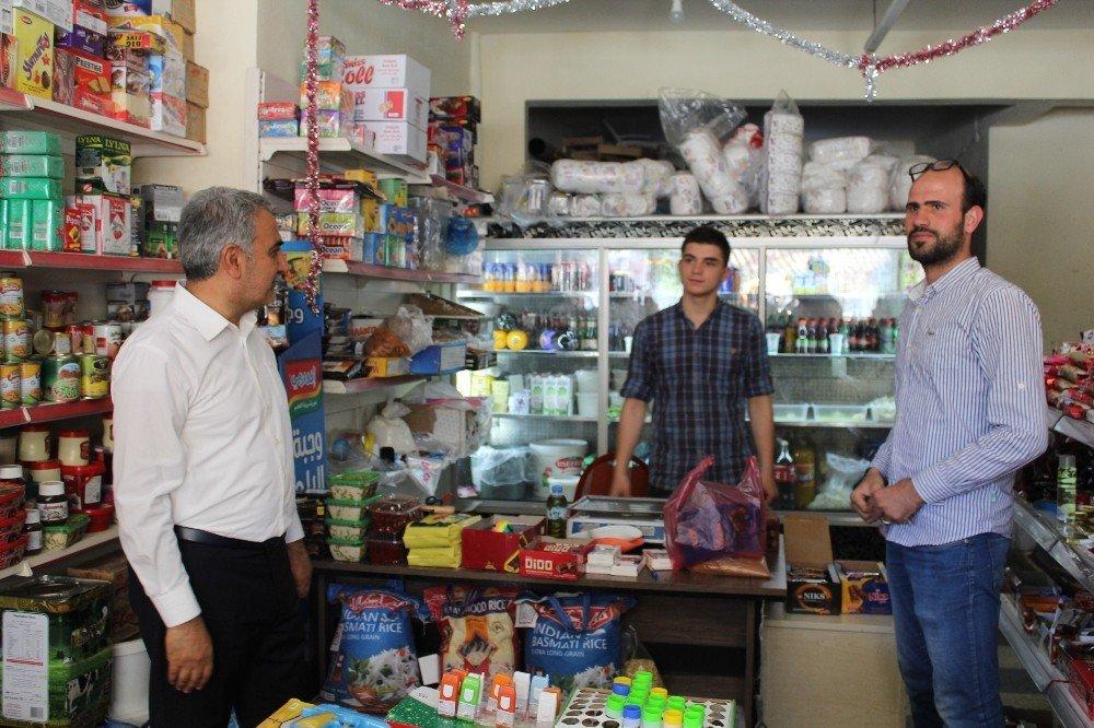 Hasan Angı ve Abdullah Ağralı'dan esnaf ziyaretleri
