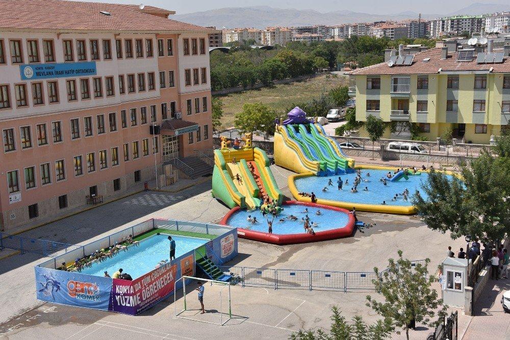 Konya'da 55 havuz ve aqupark çocukları bekliyor
