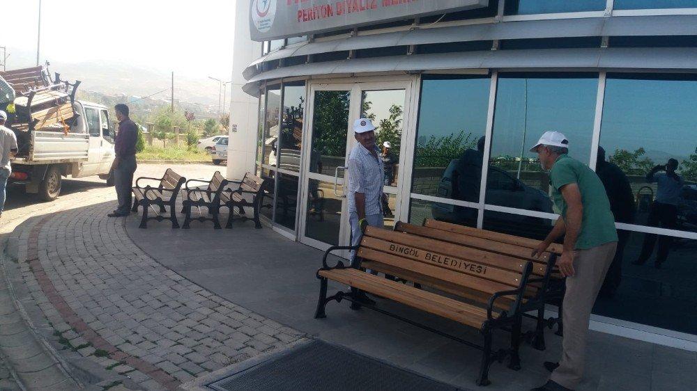 Bingöl Belediyesi'nden cami ve hastanelere bank desteği