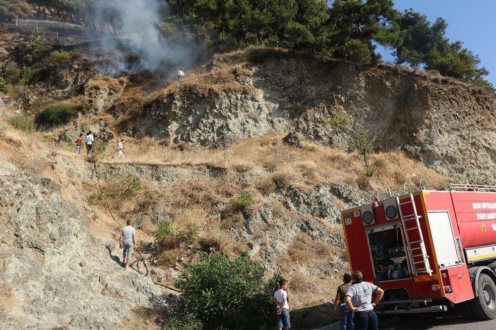 Antakya'da Habib-i Neccar Dağı'nda orman yangını