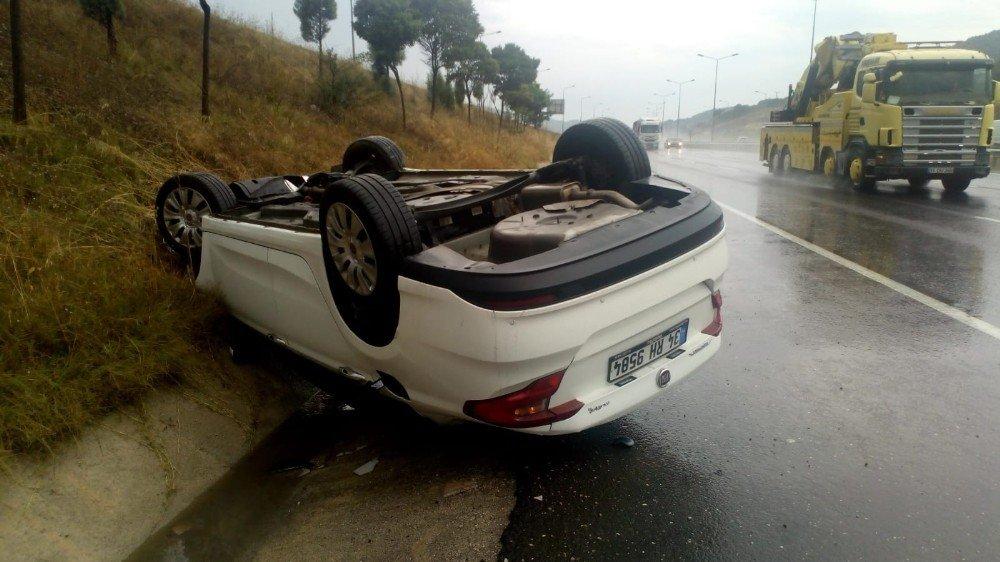 Otomobil takla attı; 1 yaralı