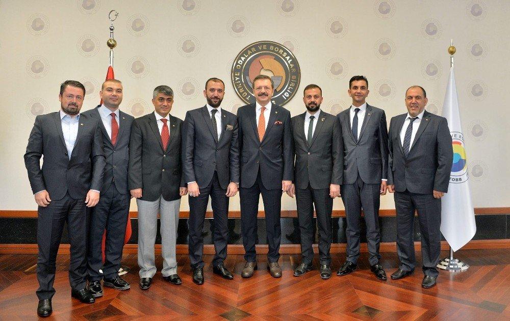 KİTSO yönetim kurulu TOBB Başkanı Hisarcıklıoğlu ile bir araya geldi